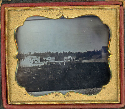 Daguerreotype Of Saratoga Mountain Mt Pleasant Glassworks Oscar Granger Premises
