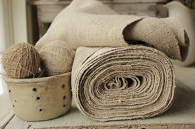Antique  material Upholstery fabric HEAVY NUBBY 13.5Y THICK hemp linen organic