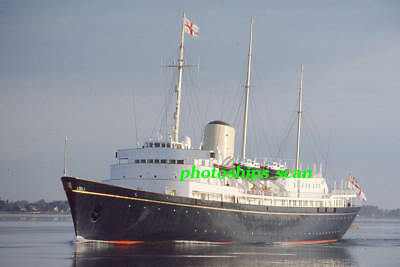1 slide of British Royal Yatch BRITANNIA in Canadian waters