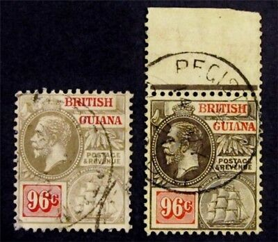 nystamps British Guiana Stamp # 188 189 Used $123