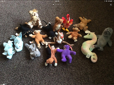 26 small teddies ty bundle job lot.