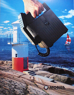 -Rare- 1980's -Nokia- Vintage Mobira Brick Cell Phone Advertising Poster/Sign