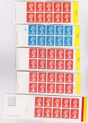 GREAT BRITAIN 5 Booklets x 10 / B14300