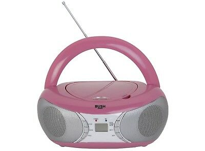 Bush CD MP3 Boombox with Radio FM & AUX - Pink (A-)