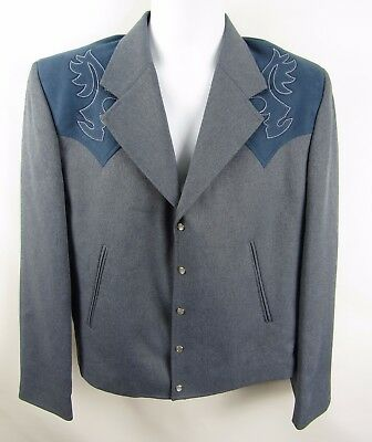 Vintage Circle S Western Wear Men's Crop Leisure Cowboy Rockabilly Jacket 42R