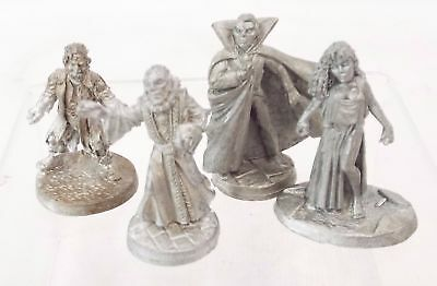 4 x Vintage TSR DUNGEONS & DRAGONS (Possibly RAVENLOFT) Pewter Figurines - S43