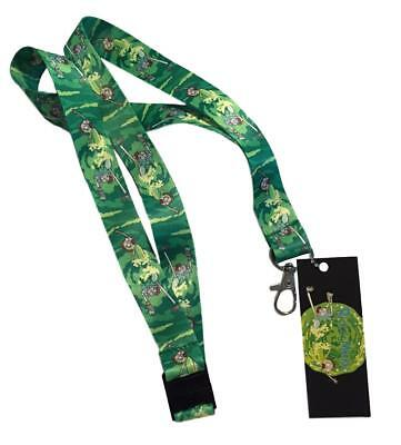 Rick and Morty Green Portal Lanyard Keychain ID Holder Safety Breakaway Licensed