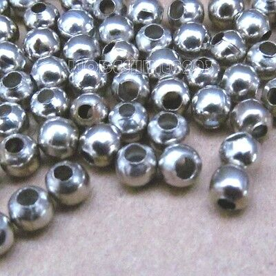4mm Stainless Steel Beads Round Ball Spacer Beads Wholesale (200 pcs)