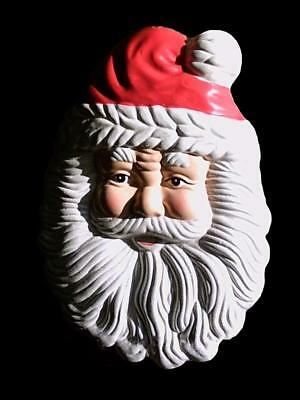 New Rubber Latex Mould Mold To Make  Father Santa Xmas Christmas Wall Plaque