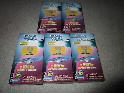 (5) Lot of 5 Star Trek Toy Fare Exclusives LT Tasha Yar All NIB