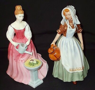 Royal Doulton - HN 2057 'MILKMAID' and HN 4928 'ALEXANDRA' Figures