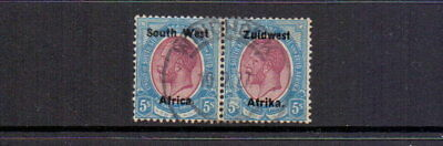 South West Africa 1923 5/- Purple & Blue Sg25 Fine Used ( Faults ) Cat £140