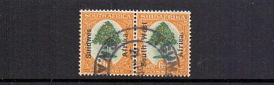SOUTH WEST AFRICA 1927 6d GREEN & ORANGE SG47 FINE USED CAT £35