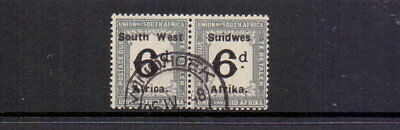 SOUTH WEST AFRICA 1927 POSTAGE DUE 6d BLACK & SLATE SGD38 FINE USED CAT £40