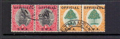 SOUTH WEST AFRICA 1929 1d & 6d SGO5 & 8 FINE USED CAT £37