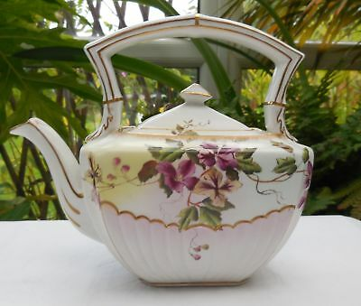 Antique Wiltshaw & Robinson Early Carlton Ware Clematis Teapot c1890-1893