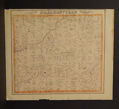 Ohio Portage County Map Shalersville Township 1874 Dbl Side  Y14#37