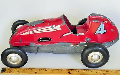 "VINTAGE DOOLING BROS LOS ANGELES CALIF. ""F"" TYPE TETHER RACE CAR 16"" LARGE McCOY"