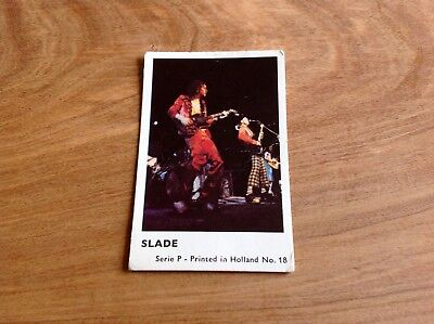 1970's HOLLAND DUTCH MINI GUM CARD SERIES P # 18 SLADE VG