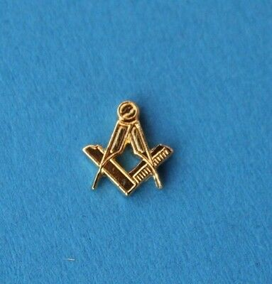 COMPASS  and  SQUARE    <>     UNUSED    *  t i n y   *        LAPEL / TIE   PIN