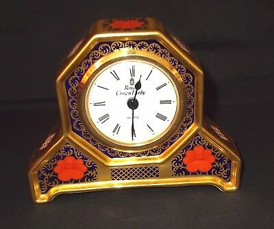 Royal Crown Derby 'OLD IMARI - 1128' Small Mantle Clock