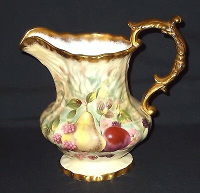 Hammersley GOLD FRUIT Large Jug - Signed R.J.Billing
