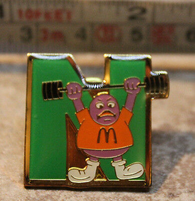 McDonalds Grimace Weights Letter N Alphabet Collectible Pinback Pin Button 2000