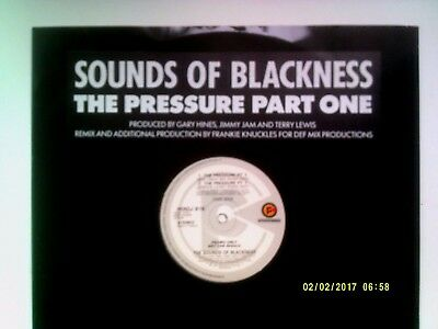 """Sounds Of Blackness The Pressure Part 1 12"""" Promo Single 1991 Excellent"""