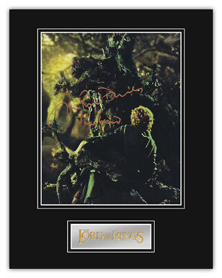 PRICE SLASHED! Lord Of The Rings John Rhys-Davies (Treebeard) Signed Display