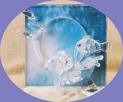 """Swarovski WONDERS OF THE SEA """"HARMONY"""" CLEAR PICTURE FRAME - SCS 2005 RETIRED"""