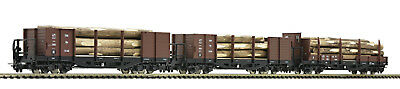 "Roco H0E 34609 holztransportwagen-set the ÖBB "" Novelty 2017 "" - Neu + OVP"