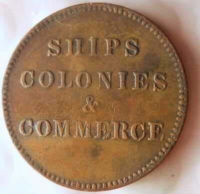 1835 NEW BRUNSWICK (CANADA) 1/2 PENNY - Great RARE - SHIPS/COLONIES - Lot #113