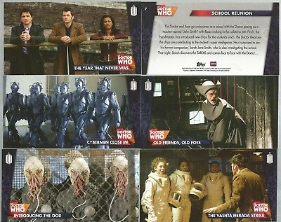 TOPPS DOCTOR WHO THE 10TH DOCTOR ADVENTURES widevision box set trading cards