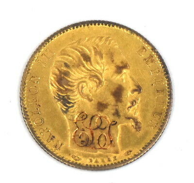 1854 A 90% Gold 5 Franc Coin Love Token France Collectible French Numismatic