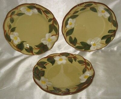 Stangl White Dogwood 3 Bread & Butter Plates