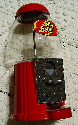 Jelly Belly Coin Bank Jelly Bean Dispenser Glass & Cast Metal 9 Inch New