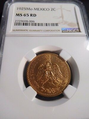 INV #W67 Mexico 1925-Mo 2 Centavos NGC MS-65 Red