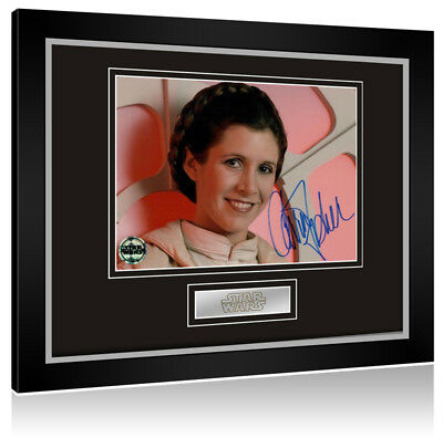 Sale! Star Wars Carrie Fisher (Princess Leia) Signed Framed Display