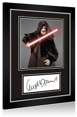 Sale! Star Wars Ian McDiarmid (Emperor Palpatine) Signed Framed Display