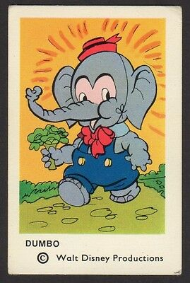 1965 Vintage Swedish Unnumbered Disney Set Gum Card Dumbo