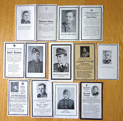 WW2 German Top !! LOT of 10 Nice Death Card  Soldiers  Nice  LOT !! #33