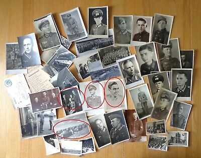 WW2 German Top !! LOT of 45 Soldiers Photos & Postcards !!   Nice  LOT !! Look !