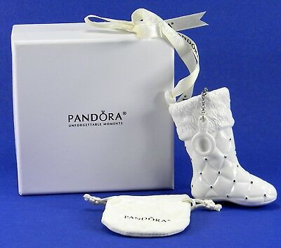 Pandora 2012 Santa's Boot, Stocking Christmas Ornament with Jewelry Bag in Box