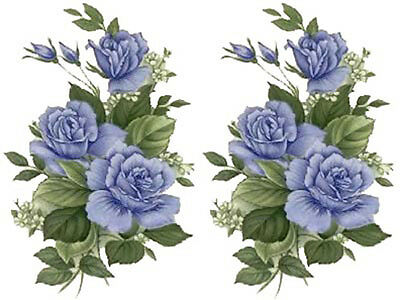 AMaZinG BLuE RoSeS ShaBbY WaTerSLiDe DeCALs *ChiC*