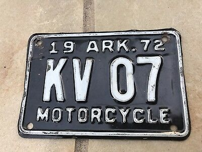 arkansas motorcycle license plate - pick your plate - $8.24 | picclick