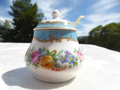 Gorgeous Crown Staffordshire White Floral Mini / Miniature Sugar Bowl Mint