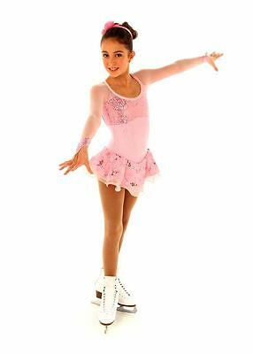 New Figure Skating Competition Dress Elite Xpression 1353 Child 12-14 CXL