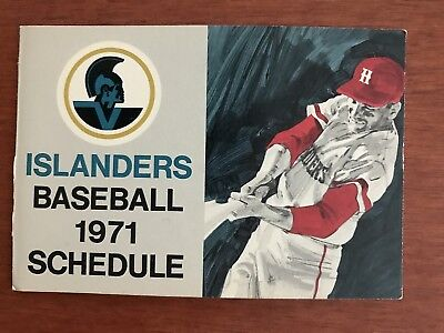 MiLB 1971 HAWAII ISLANDERS Minor League Baseball Schedule SAN DIEGO Affiliate