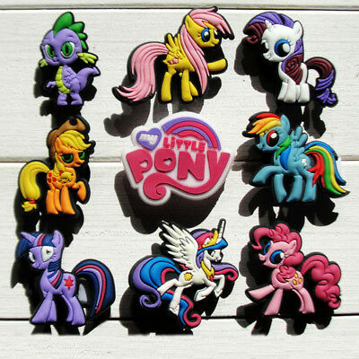 8-12pcs/lot My Little Pony Shoe Charms Accessories fit in Shoes & Bracelets Gift