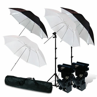 "Lusana Studio Flash Mount & 33"" Umbrellas & Light Stand Case Lighting Kit"